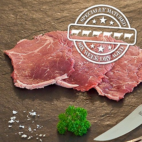 6 Week hung minute steak